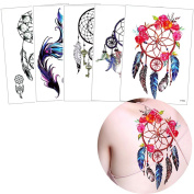 5 Sheets Dreamcatcher Beauty Temporary Tattoo Body Art Sticker Paper