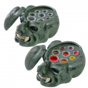 Tattoo Ink Cup Holder Pigment Cap Stand 7 Holes Skull Head Permanent Makeup for Tattoos Inks