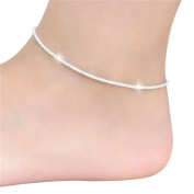Cosanter Creative Accessories Glittering Anklets Female Twist Interlaced Foot Jewellery Simple