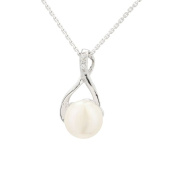 Kiss White Cultured Pearl Pendant and 925 Sterling Silver – Gift Idea