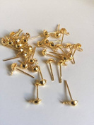 20pcs 4*8mm Gold/Silver DIY Jewellery Making Accessories for Earing Piercing Golg colour 208