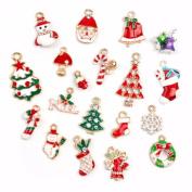 Mixed Christmas Charms Set Jewellery Pendants Party Decor - Metal Alloy 19 pcs