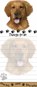 Golden Retriever Magnetic Sticky Note Pad