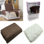 Case Cover for Sofa Reversible Cover Sofa Sillon Brown and Beige Protector Sofa 1 Square 70 cm