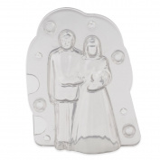 OUMOSI 3D Bride and Broom Chocolate Mould Reusable Wedding Baking Tool Fondant Cake Decorating Mould