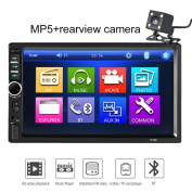 Everyday 18cm Car Bluetooth HD Touch Screen Stereo 2Din MP5 Player with Rearview Camera