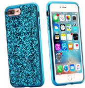 EUWLY iPhone 6 Plus Case Hard Plastic,Hard Plastic Phone Case for iPhone 6S Plus,Bling Shiny Sparkle Glitter Plastic Hard Case Protective Shell Case Cover for iPhone 6 Plus 6S Plus Scratch Resistant Slim Case Luxury Glitter Shock Resistant Anti-dust Th ..