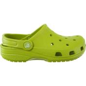 Crocs Childrens Unisex Mule Sandals Feat K - Volt Green Manmade - UK Size 13-1 - EU Size 32-33 - US Size J1