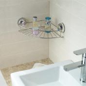 Kimanli Corner Shelf Shower Basket Stainless Steel Bathroom Shelf Shower Shampoo Holder