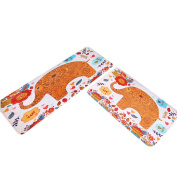 Anti-slip elephant carton bathroom Mat, Super Soft Sweat Absorbent Microfiber Mat for Bikram, Ashtanga and Vinyasa Yoga( 50cm x 80cm )-by Italy Seltman