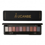 MeineBeauty 10 Colours Matte Eyeshadow Palette Pearl Warm Smoked Cosmetic Highlight Eyeshadow Powder