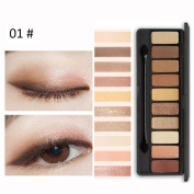 Eye Shadow, Prevently Brand New Professional 10 Colours Matte & Pigment Glitter Shimmer Eyeshadow Powder Cosmetic Smoky Eyeshadow Palette Makeup Set
