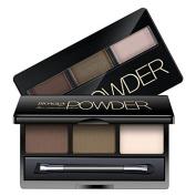 Moresave 3 Colour Eyebrow Eyeshadow Powder Palette with Makeup Pencil Beauty Eyebrow Enhancer