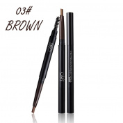 squarex Waterproof Replaceable Eyebrow Pen Pencil With Brush Makeup Cosmetic Tool