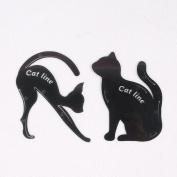 PURCIEL Makeup Eyeliner Eyeshadow Template Cat Line Beauty Makeup Eye Liner Eyeshadow Template Cat Line