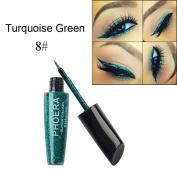 good01 PHOERA Shimmering Paillette Liquid Eyeliner Shiny Eye Makeup Women Beauty Tool size 8#Turquoise Green