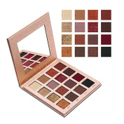 Yiding 16 Colours Eyeshadow Palette Matte Shimmer Waterproof Not Fade Eye Shadow with Mirror