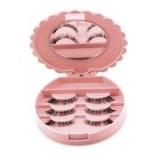 Winkey Storage Box,Acrylic Cute Bow False Eyelash Storage Box Makeup Cosmetic Mirror Case Organiser