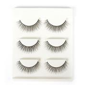Vasyle 3D three-dimensional false eyelash hard stem short natural messy cross eyelashes nude makeup false eyelashes