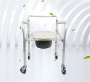 NEEDED Y Bedside Commode Steel Folding Chairs Elderly Pregnant Woman Chair Upholstery Wheelchair Grey