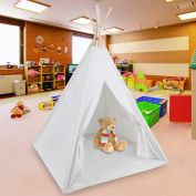 SUPER DEAL Teepee Tent Children Indian Playhouse Kids Play Room Sleeping Dome Toddlers Canvas Teepee With Carry Case