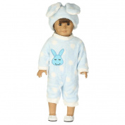 Doll Clothes, SHOBDW Hot! 1PC Bunny Pyjama Jumpsuit + Cap Sets Toys For 46cm Our Generation American Girl Doll Clothing (Excluding Dolls)