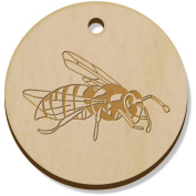 11 x 34mm 'Wasp Insect' Wooden Pendants / Charms