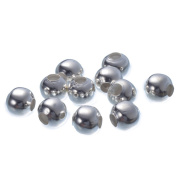 YC 50pcs 8mm Silver Plated Smooth Round Iron Beads Loose Metal Beads Craft DIY Jewellery Making Findings Charms Pendants