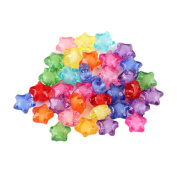 Milopon Acrylic Beads Spacer Beads Star Beads for Jewellery Making DIY Crafts Bracelet Necklace Ring 50pcs