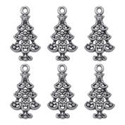 30PCS Christmas Tree Charm Beads Pendants Jewellery Making Findings 2.3cmx1.2cm