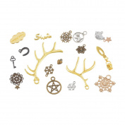 1 Pack Mixed Christmas Snowflake Antlers Stars Charm Beads Pendant Jewellery Making Findings