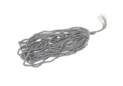 Metallic Grey, Silver , Dark Grey Round Beads Sewing Embroidery Rocaille Jewellery DIY Decoration 2mm