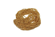 Gold, Shiny, Metallic Round Beads Sewing Embroidery Rocaille Jewellery DIY Decoration 1mm