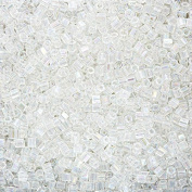 Miyuki Hex Cut Seed Beads Size 8/0 (3mm) Crystal AB 12g