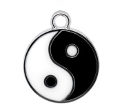 10x Chytaii Pendant Charms Tai Chi yin yang Pendant for Necklace Bracelet Jewellery Making Beading Crafting Findings