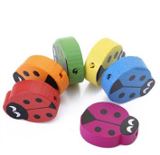 Visork Wooden Ladybug Beads Painted Children Beads Children Spacer Beads Jewellery Making Findings For DIY Crafts 18 Pieces