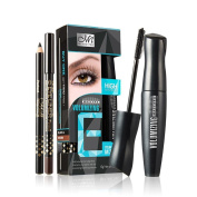 KaloryWee 2Pcs Black Mascara 3D Fibre Waterproof Curling Lengthening Eye Lashs Mascara