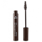 AVRIL - Volumizing Mascara Brown - Long-Lasting and Easy Application - Organic, Not Tested on Animals - 10ml