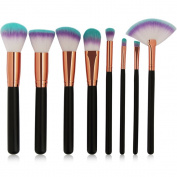 TopTen Makeup Brush Set, 8Pcs Professional Synthetic Cosmetics Foundation Blusher Blending Concealer Eyeliner Face Powder Beauty Brushes Cosmetics Makeup Brush Kit