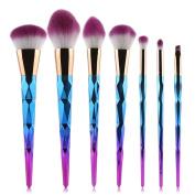 Makeup Brush Set, TopTen 7Pcs Synthetic Cosmetics Foundation Blending Concealer Eyeliner Face Powder Beauty Brushes Cosmetics Makeup Brush Kit
