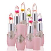 6Pcs/Set Beauty Bright Flower Crystal Jelly Lipstick Magic Temperature Change Colour Lip Gloss