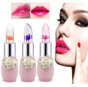 Magic Temperature Change Colour Lip Gloss, 6Pcs/Set Beauty Bright Flower Crystal Jelly Lipstick Lip Stains, Long Lasting Makeup Lip sticks
