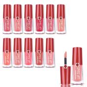 Sharplace 12 Colours Matte Liquid Lip Gloss Lipstick Makeup Long Lasting Beauty Set for Women