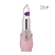 Fantastic Lovely Shape Lipstick, OHQ Beauty Bright Flower Crystal Jelly Lipstick Magic Temperature Change Colour Lip