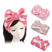 Shintop Makeup Headband - Lovely Soft Fleece Elastic Hair Band for Spa Shower Mask and Washing Face