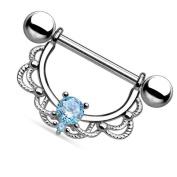 Pinzhi 1pcs Amazing Stainless Steel Nipple Shield Bar Ring Body Piercing Jewellery