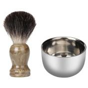 Shinning Stainless Steel Men's Shaving Mug Shave Soap Brush Bowl Cup 7.2cm New