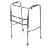 JIN Elderly Walker Collapsible Can Be Moved Alternately Height Adjustable Easy To Carry Medical Insurance Walker