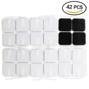 TENS Electrodes - Value Self-adhesive Reusable TENS/EMS Unit Pads, 42 Electrode Pads 5.1cm x 5.1cm in for Universally Compatible with Most TENS Machine Models