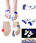 Bunion Corrector & Night Splint - One Pair Orthopaedic Foot Bunion Correctors - Hallux Valgus Bunion Pain Relief Protector pads with Adjustable Hook and loop - Toe Straighteners for Bunions